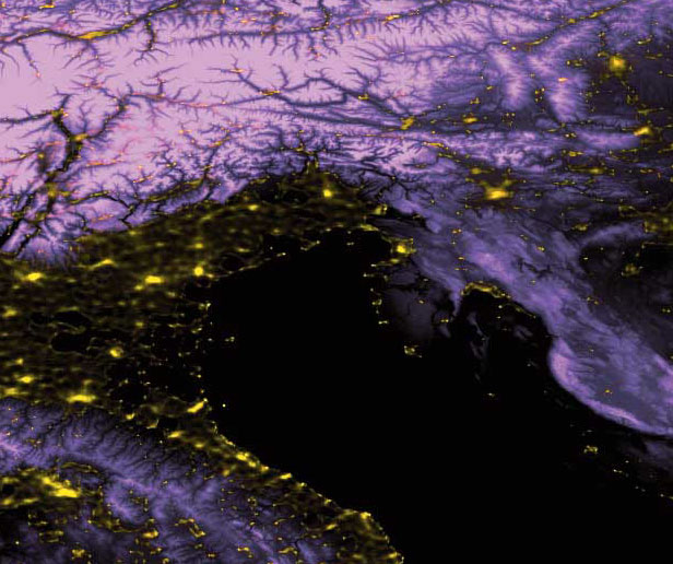 Light pollution sources in Italy - Light pollution in italy